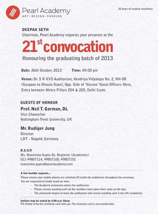 Convocation 2013 e-invite