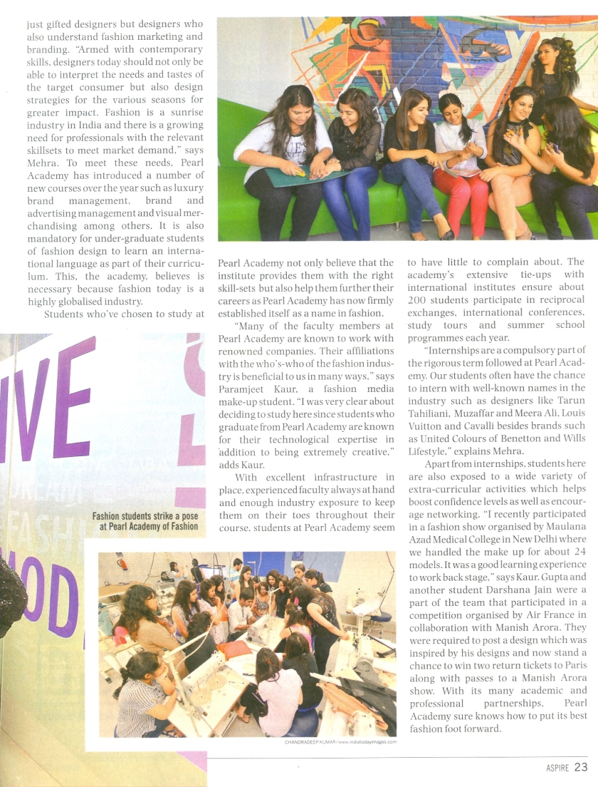 India Today(Aspire, October) Page 23