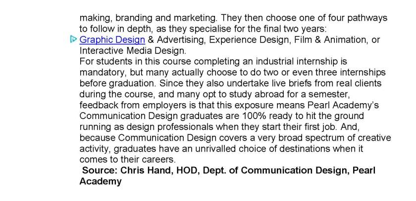 Pearl Academy introduces Postgraduate Diploma in Motion Graphics Design for 2014 batch_Page_1_Page_2