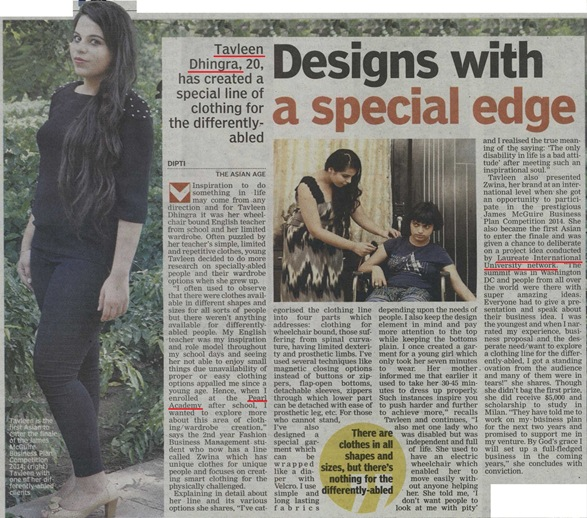 Asian Age - Tavleen Dhingra (Delhi & Mumbai Editions)