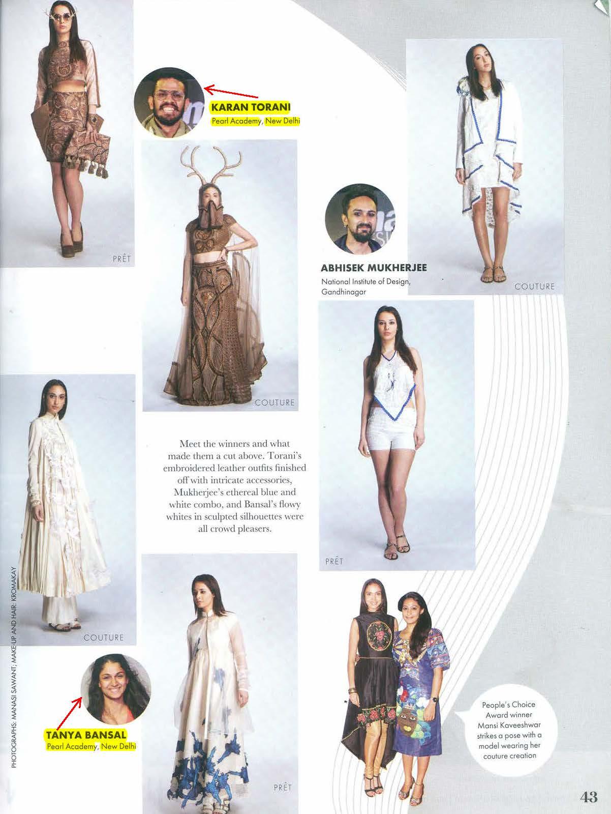 Tanya Bansal And Karan Torani Of Pearl Academy In Top 3 Winners At Max Design Awards 2014 Pearl Library Blog